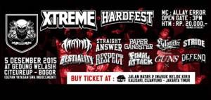 Panggung Musik Keras Xtreme Hardfest di Cibinong