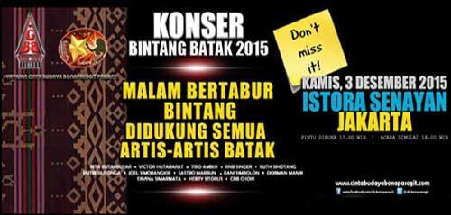 Konser Bintang Batak 2015 di Istora Senayan