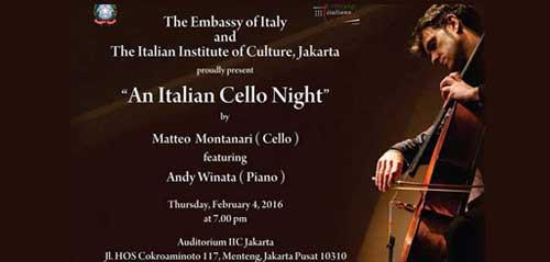 An Italian Cello Night, Acara Musik Bernuansa Orkestra Modern