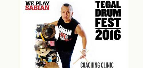 Kiat Sukses Drummer Terkenal bersama Sandy Andarusman di Tegal Drum Fest 2016