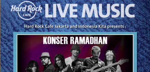 Konser Ramadhan Indonesia Kita Sujud di Hard Rock Cafe Jakarta