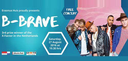 B-Brave Gelar Free Concert di Erasmus Huis