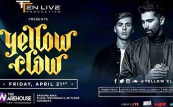 Aksi Duo DJ Yellow Claw di Surabaya