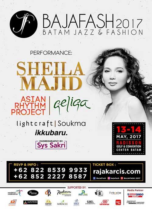 Sheila Majid Tampil di Batam Jazz and Fashion 2017