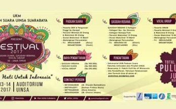 Festival 2017 Senada Hati Untuk Indonesia