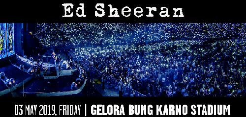Konser Ed Sheeran di Stadion Gelora Bung Karno