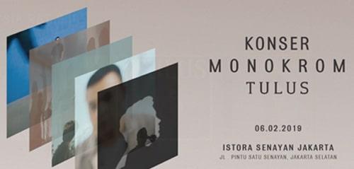 Konser Monokrom Tulus Jakarta