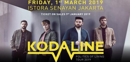 Konser Politics of Living Tour 2019 dari Kodaline di Istora Senayan Jakarta